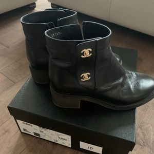 100% Authentic Chanel short boots